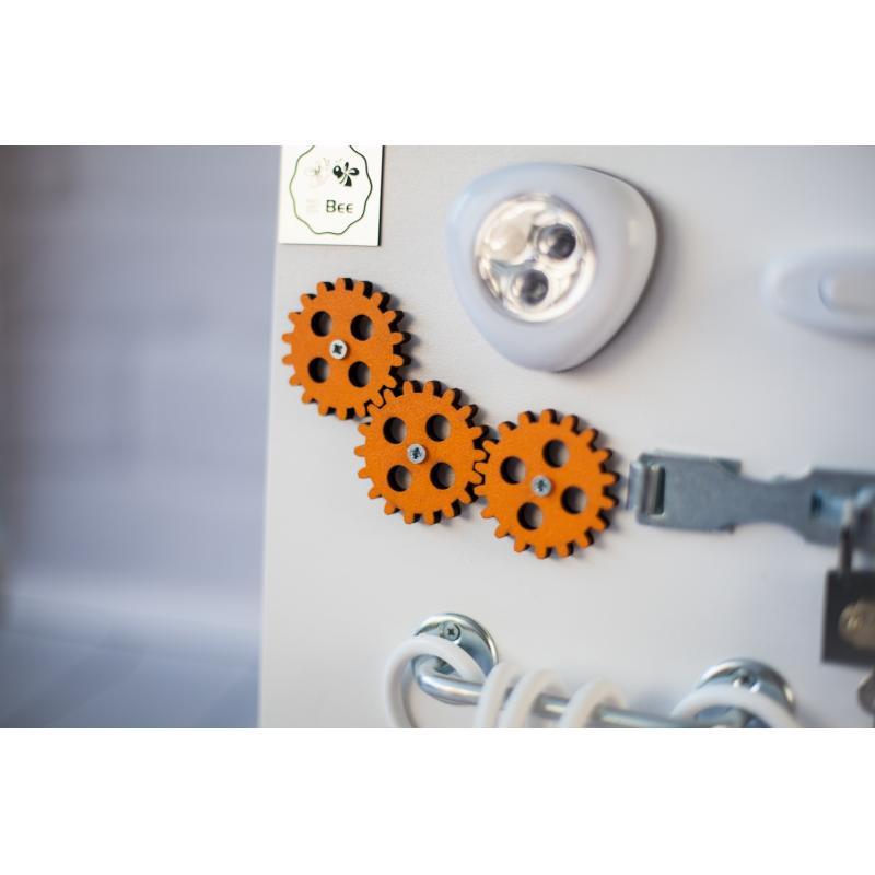 Бизиборд складной Бело-оранжевый 60х40 фото