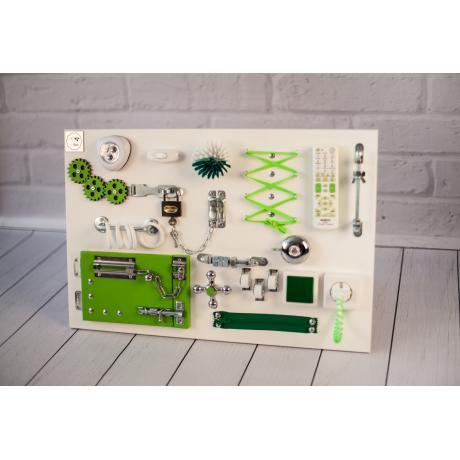 Бизиборд складной Бело-зеленый 60х40