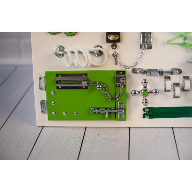 Бизиборд доска Бело-зеленый 60х40 фото