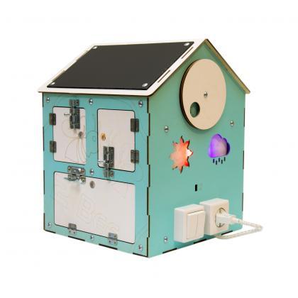 Бизи-Дом со светом мятный 30х40 см