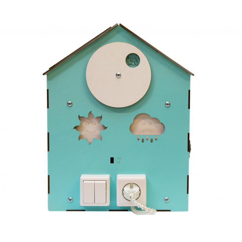 Бизи-Дом со светом мятный 30х40 см фото