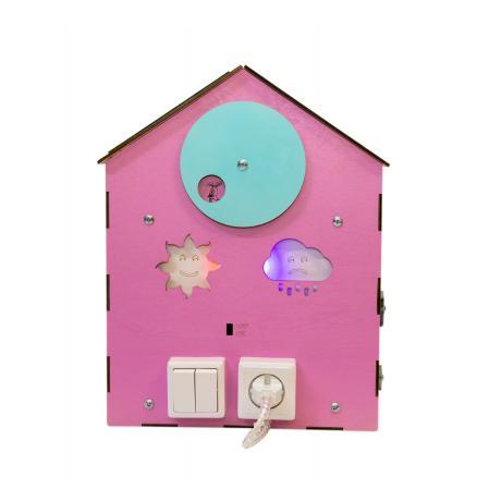 Бизи-Дом со светом розовый 30х40 см