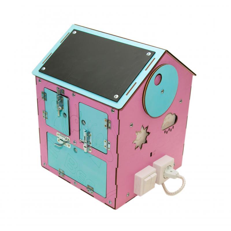 Бизи-Дом со светом розовый 30х40 см фото