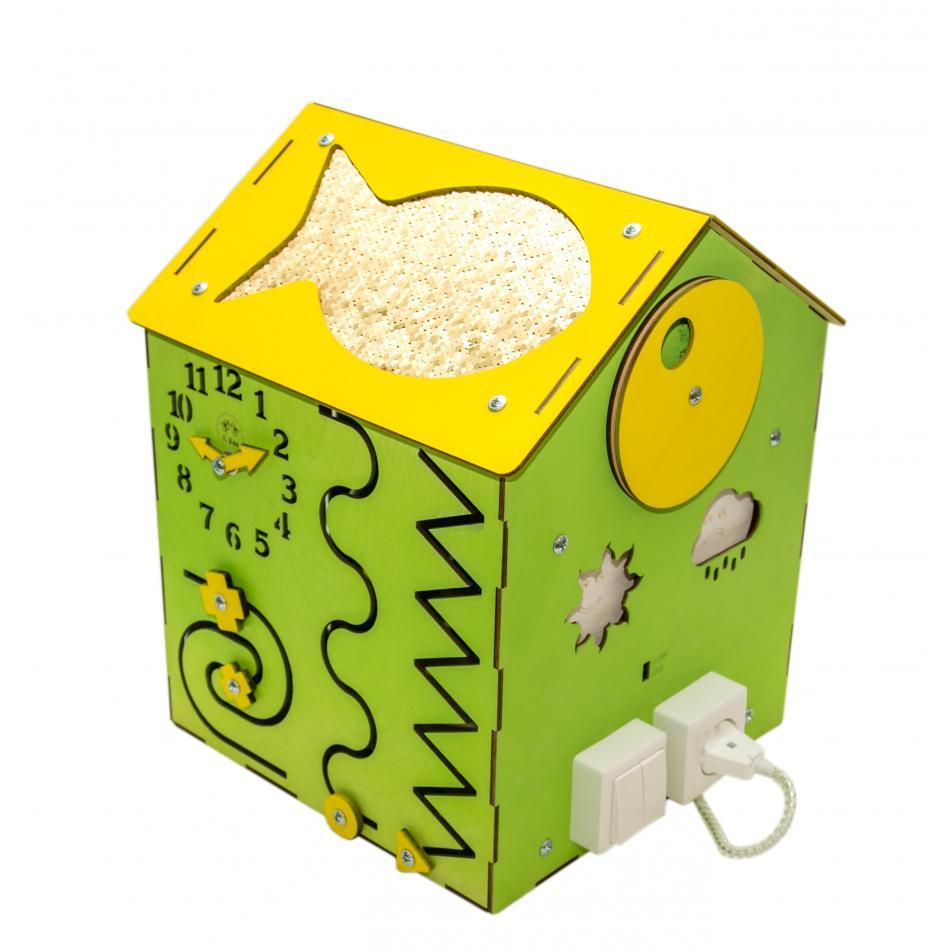 Бизи-Дом со светом зеленый 30х40 см