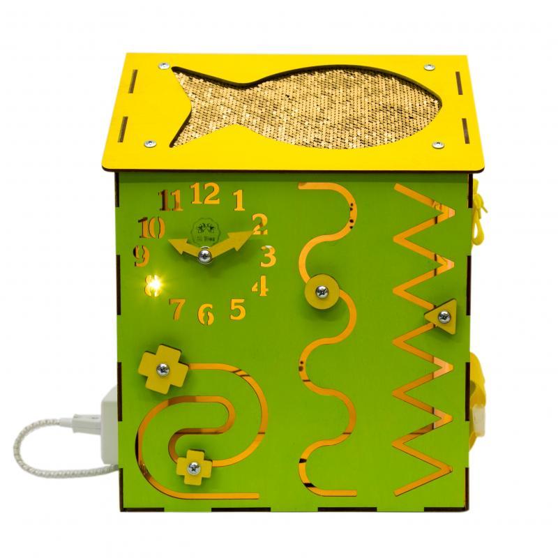 Бизи-Дом со светом зеленый 30х40 см фото