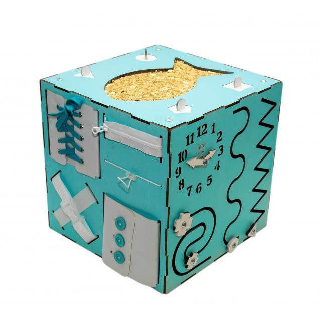 Бизи-Куб мятный 30х30 см