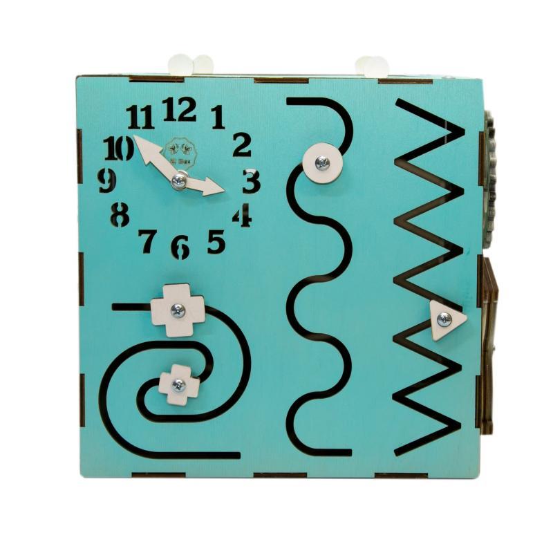 Бизи-Куб мятный 30х30 см фото