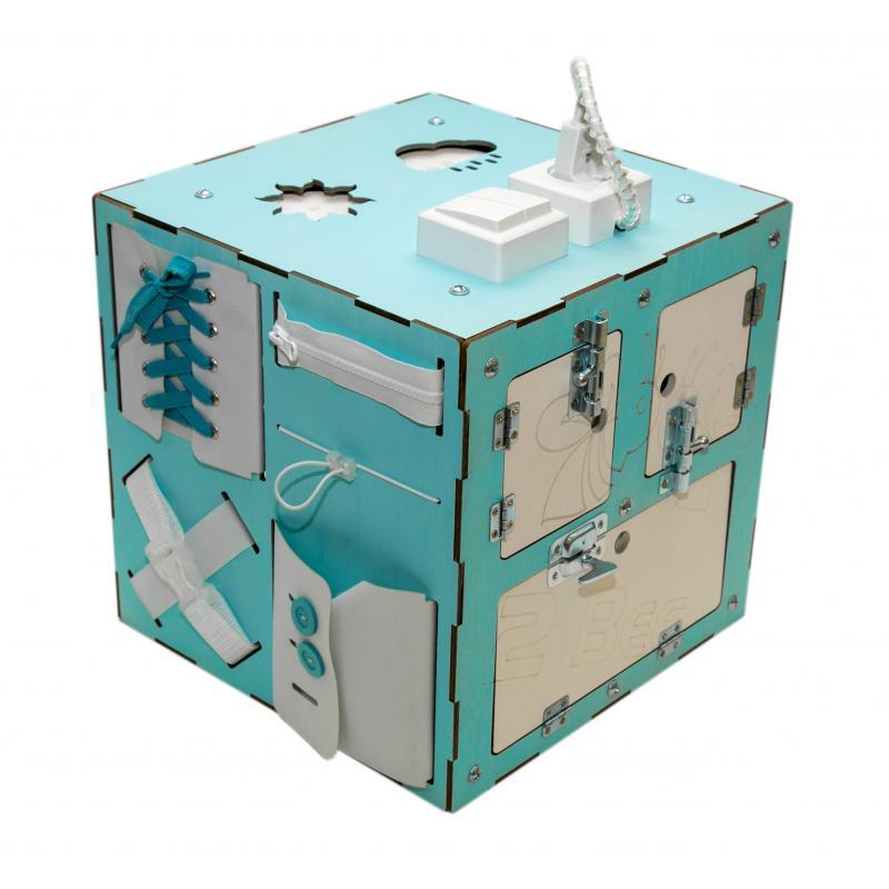 Бизи-Куб со светом мятный 30х30 см фото