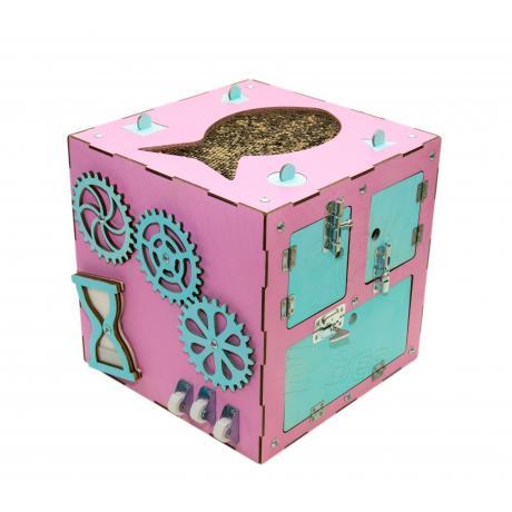 Бизи-Куб розовый 30х30 см
