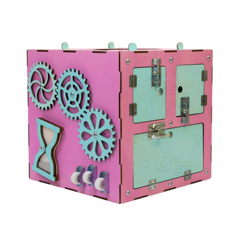 Бизи-Куб розовый 30х30 см фото