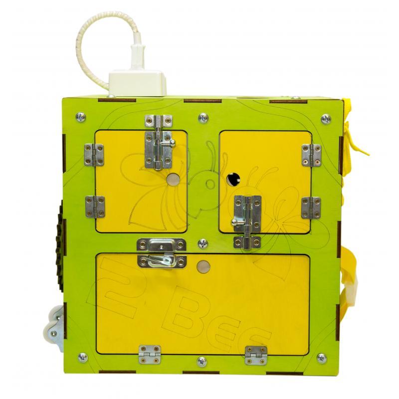 Бизи-Куб со светом зеленый 30х30 см фото