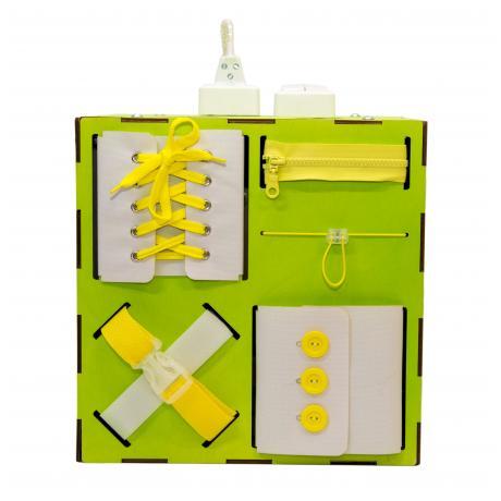 Бизи-Куб со светом зеленый 30х30 см
