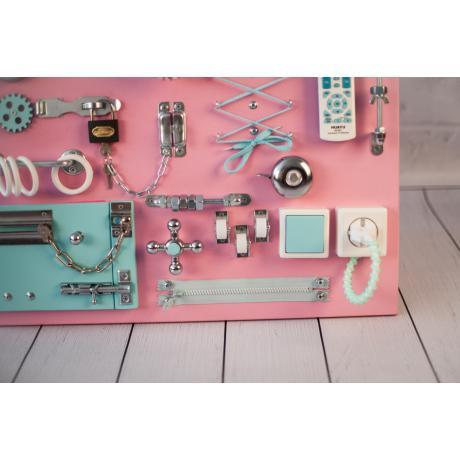 Бизиборд доска Розово-мятный 60х40