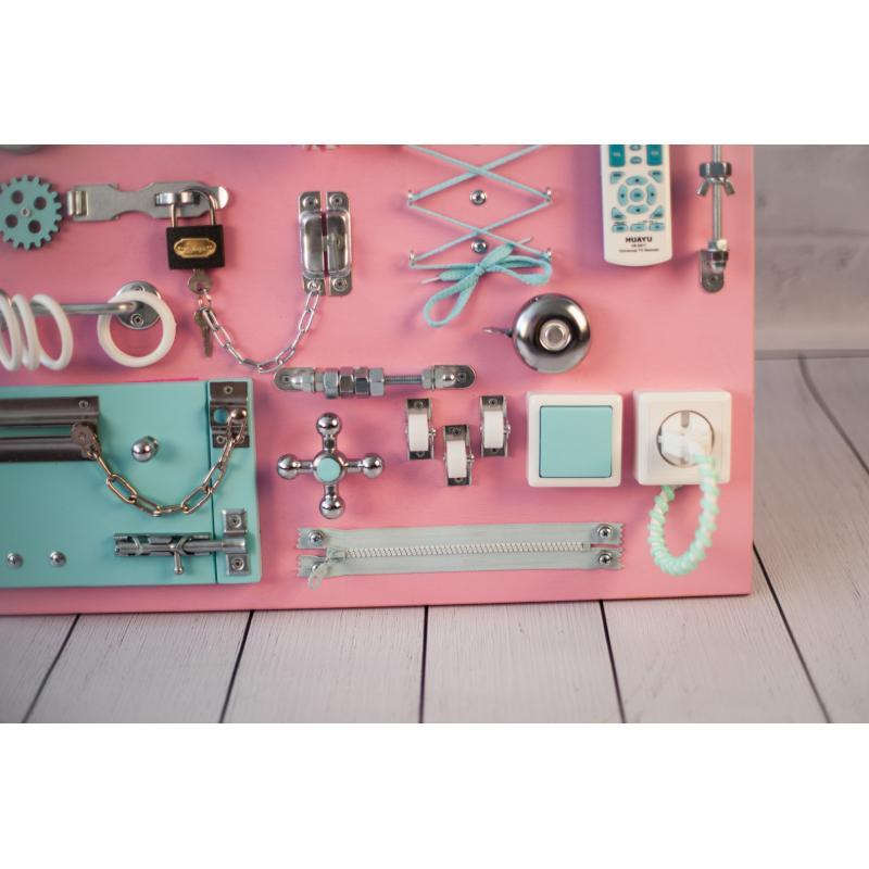 Бизиборд складной Розово-мятный 60х40 фото