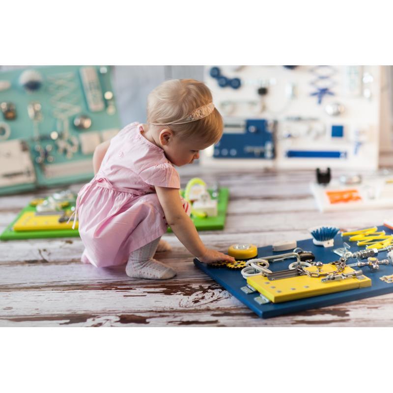 Бизиборд складной Сине-желтый 60х40 фото