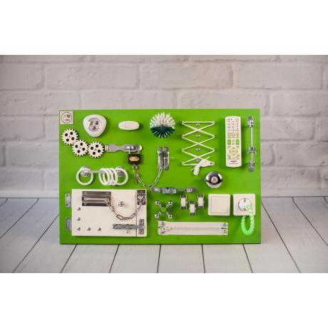 Бизиборд складной Зелено-белый 60х40