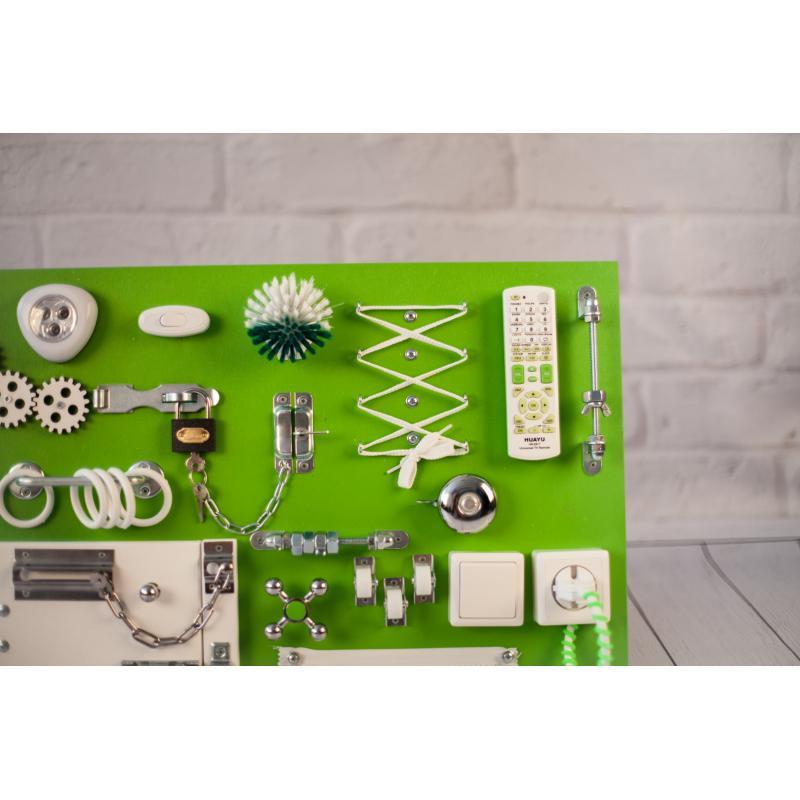 Бизиборд доска Зелено-белый 60х40 фото