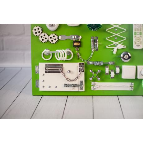 Бизиборд доска Зелено-белый 60х40