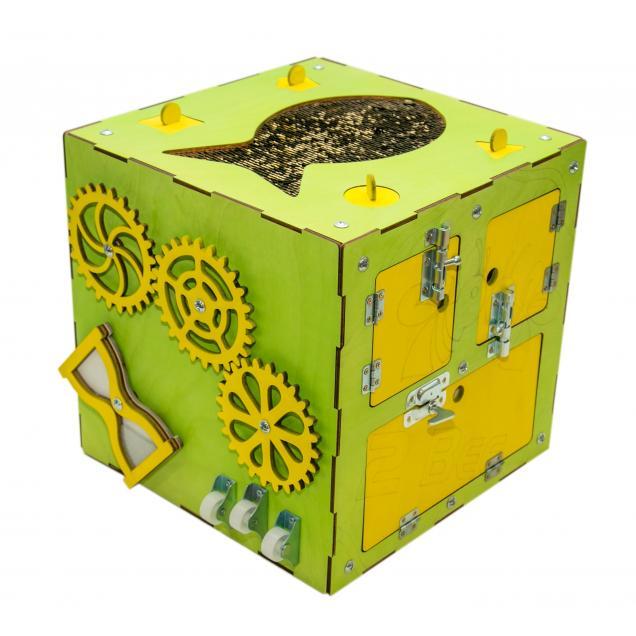 Бизи-Куб зеленый 30х30 см
