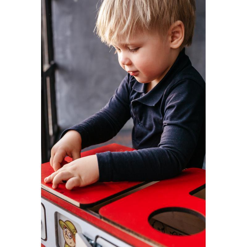 Бизиборд на колесах автобус фото