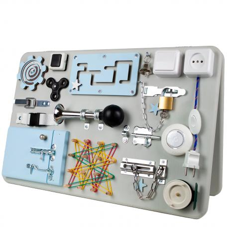 Бизидоска 60х40 двусторонняя серо-голубая