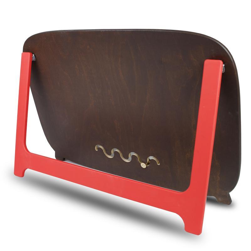 Бизиборд  70х47 односторонний с подставкой - коричнево-красный фото
