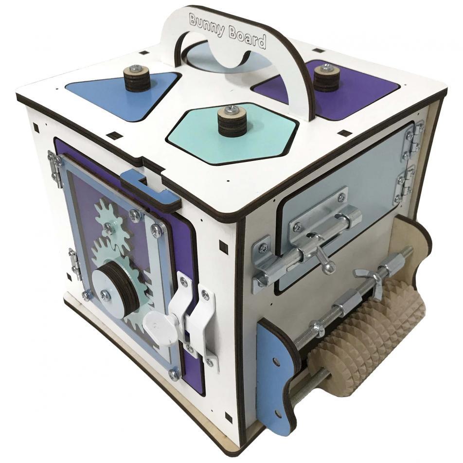 Бизи Кубик Банни лазурный 20х20 см