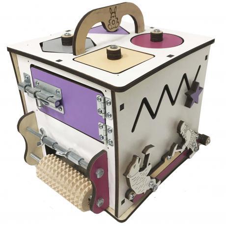 Бизи Кубик Банни лаванда 20х20 см