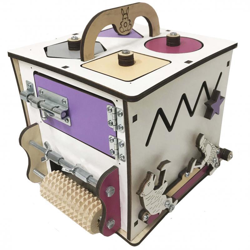 Бизи Кубик Банни лаванда 20х20 см фото