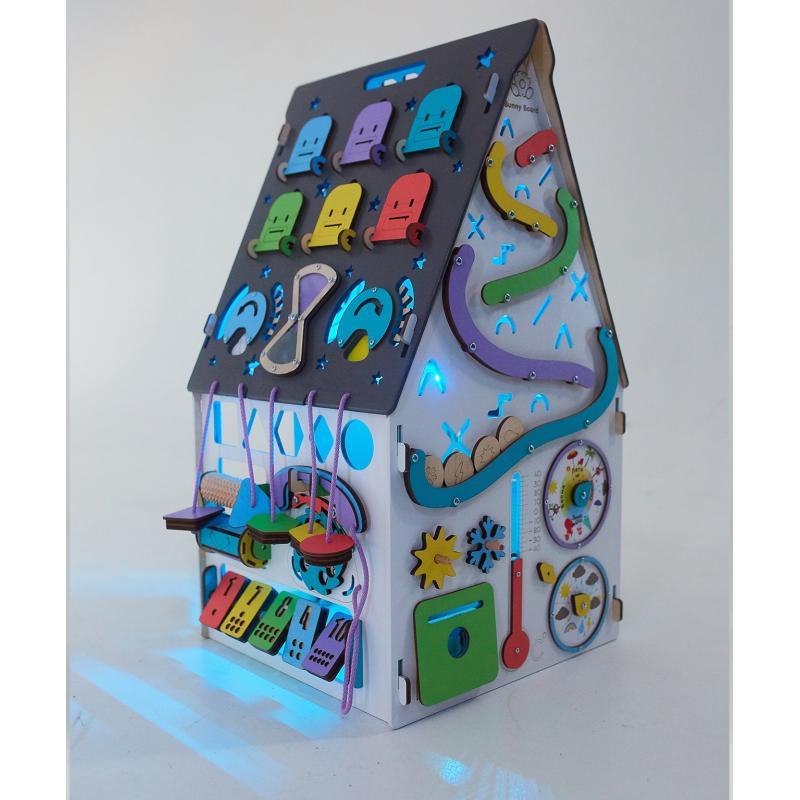 Бизиборд Домик L со светом 40х40х65 см фото