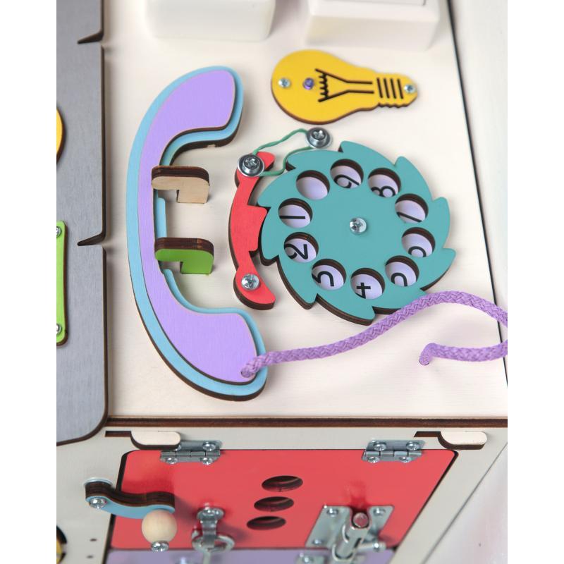 Бизиборд Домик Все в одном 30х30х45 см со светом фото