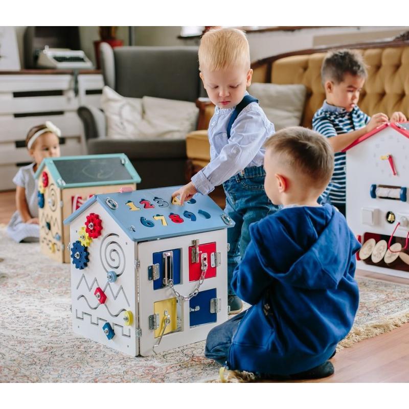 Бизиборд маленький домик Бизикидс White фото