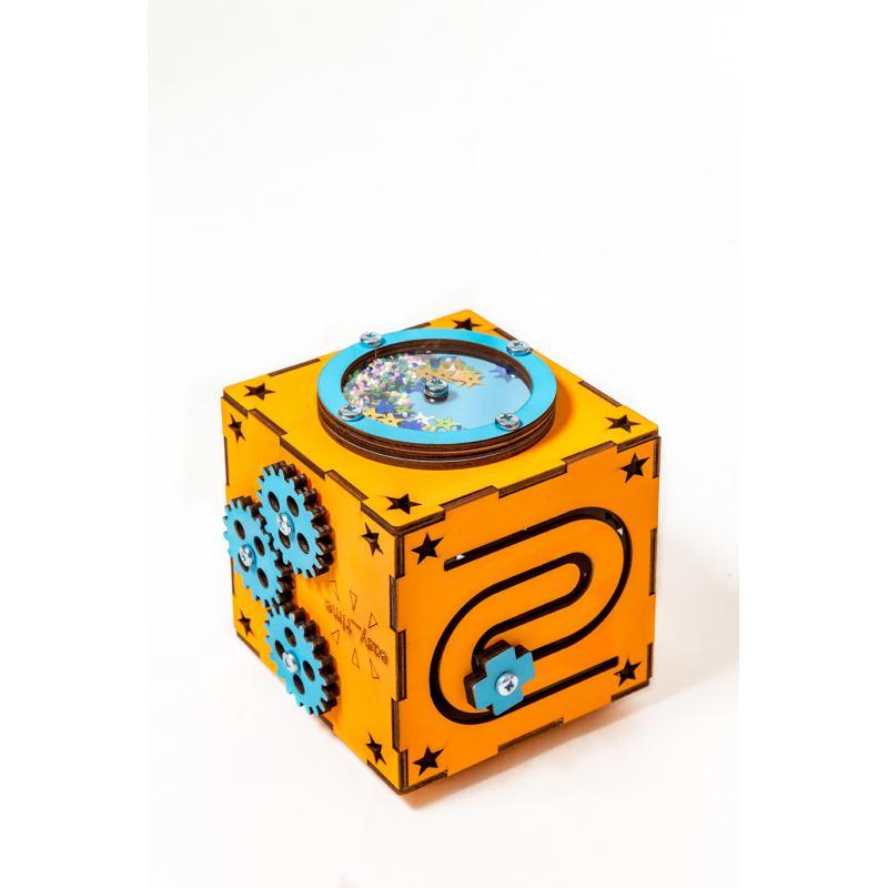 БизиКуб оранжевый 13х13 фото