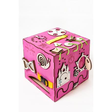 Бизикуб розовый 30х30