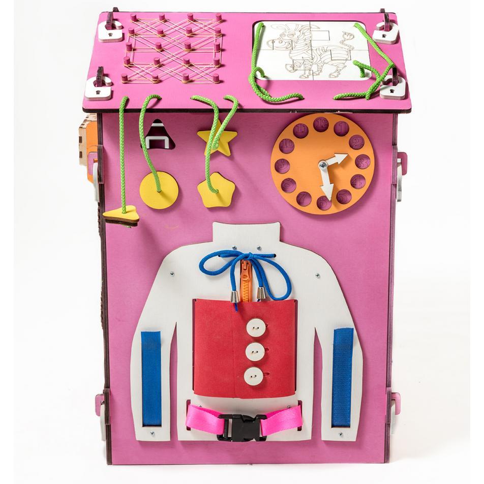 БизиДом розовый 60х40х40