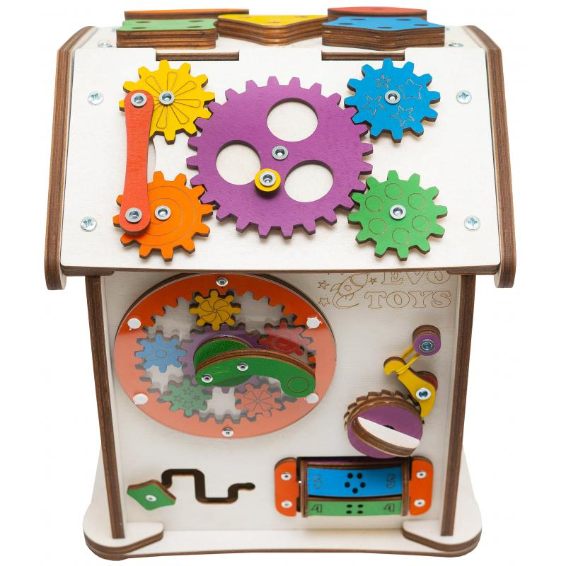 Бизиборд домик Знайка Семицвет Малыш со светом фото