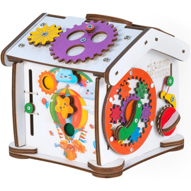Бизиборд домик Знайка Семицвет Кроха со светом фото