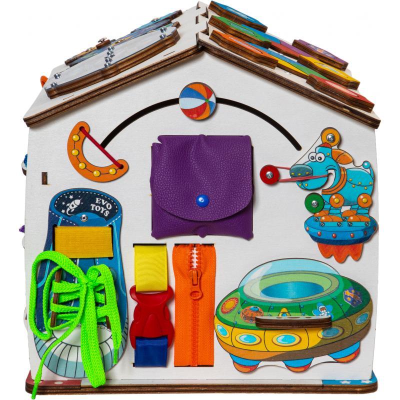 Бизиборд домик Знайка Косморобот со светом фото