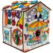 Бизиборд домик развивающий Смайлики на аттракционе со светом фотографии