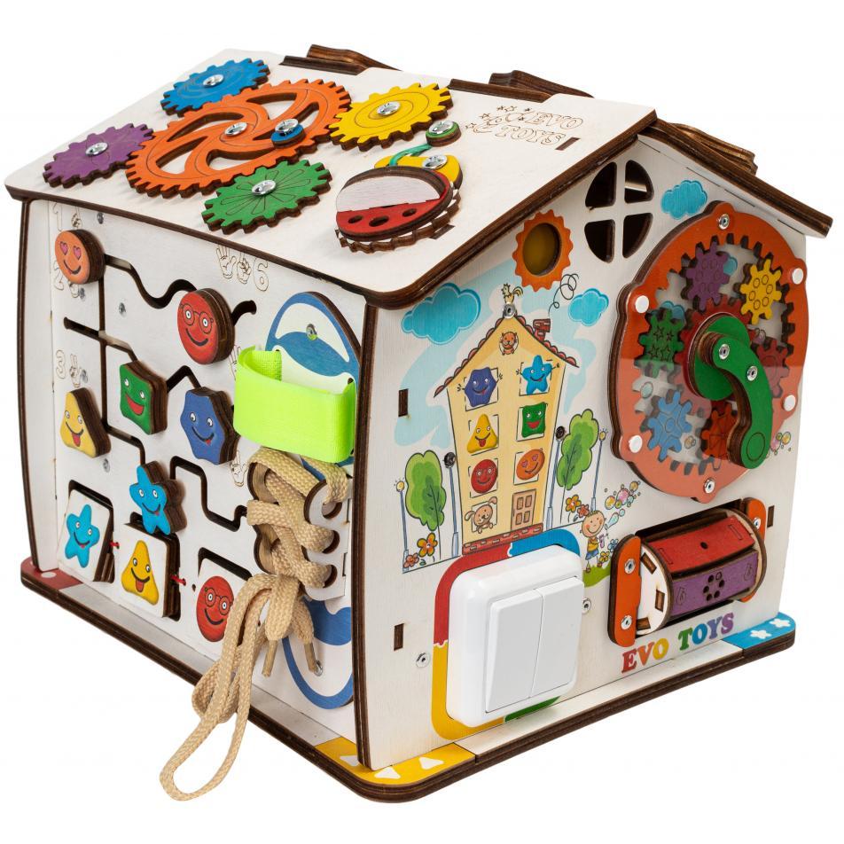 Домик развивающий Дом, в котором живут Смайлики 25х25х29 см