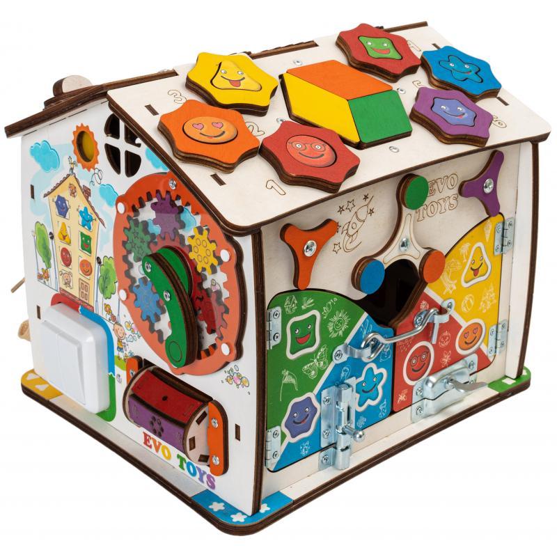 Домик развивающий Дом, в котором живут Смайлики 25х25х29 см фото