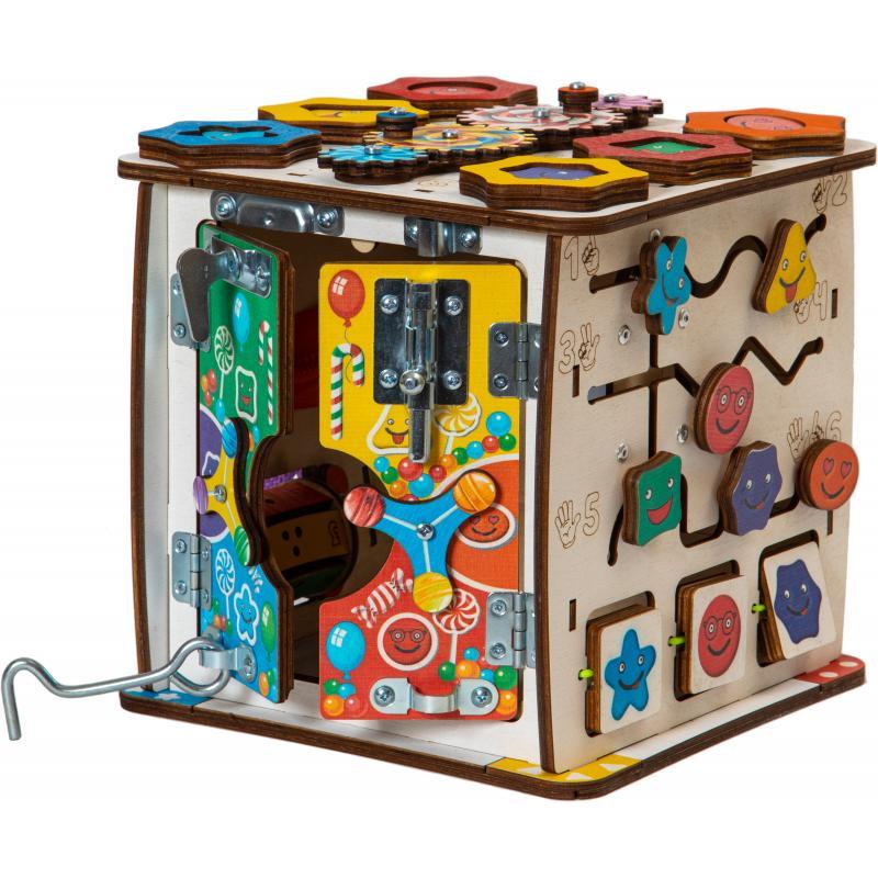 Бизиборд кубик Смайлики на дне рождения фото