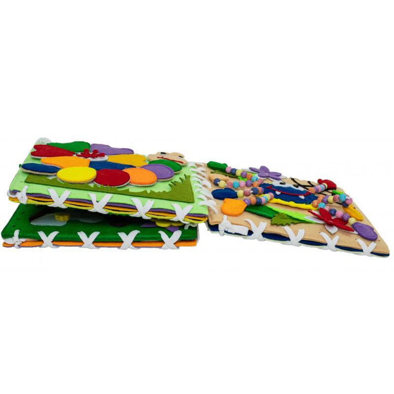 Мягкий бизиборд конструктор (кубик, коврик, бортик, книжка) фото