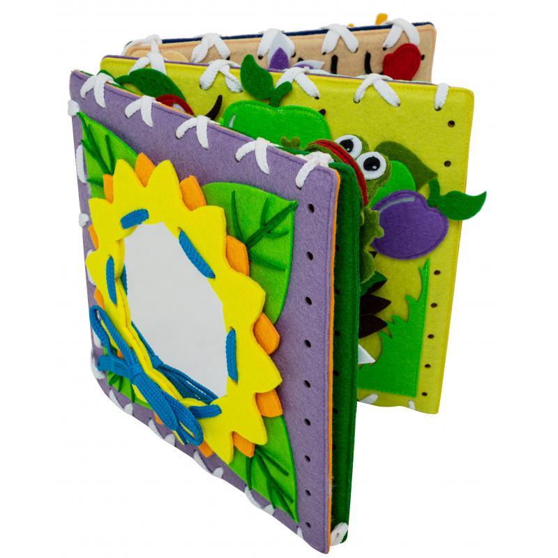 Мягкий бизиборд книжка конструктор 25X25 см 6 страниц фото