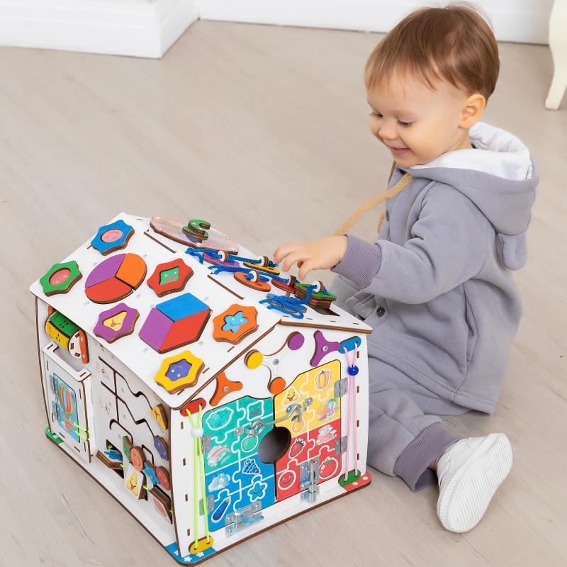 Бизиборд домик Знайка смайлик макси со светом фото