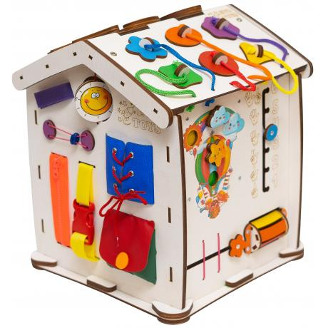 Бизиборд домик Evo toys 30X35 со светом