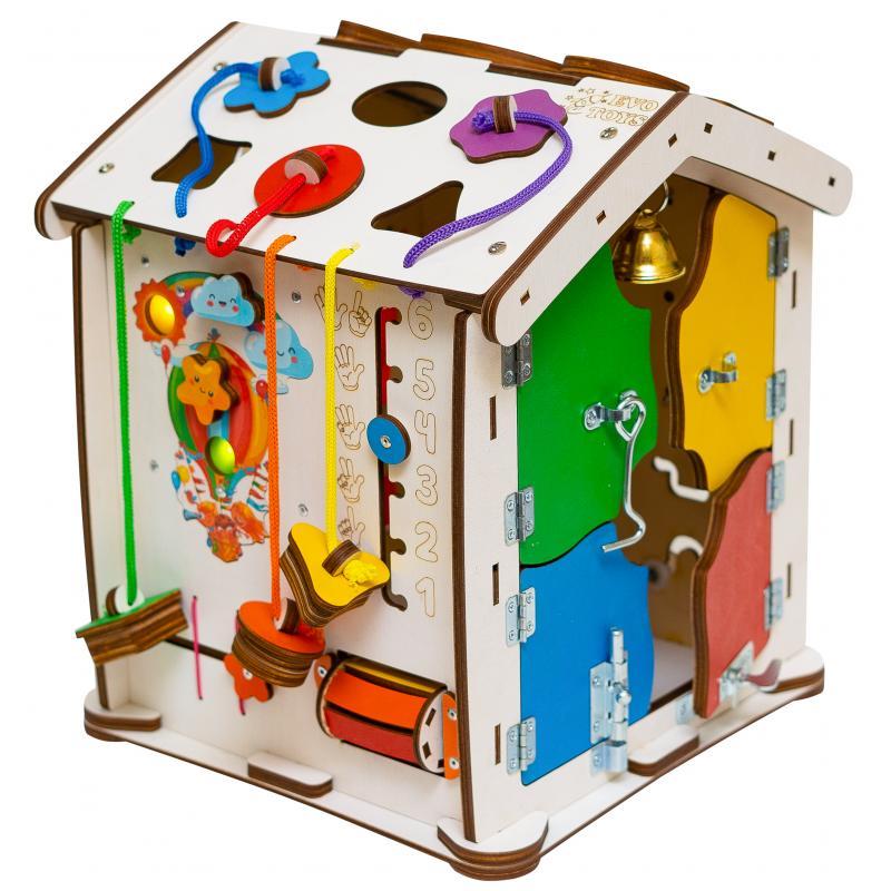 Бизиборд домик Знайка Семицвет 30X35 со светом фото