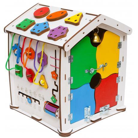 Бизиборд домик Evo toys 35X40 со светом