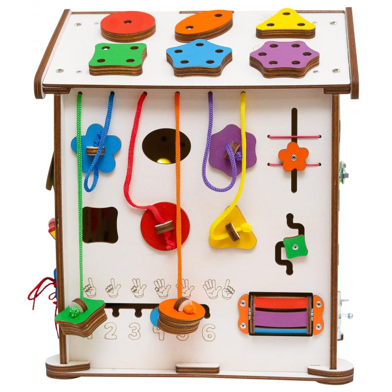 Бизиборд домик Evo toys 35X40 со светом фото