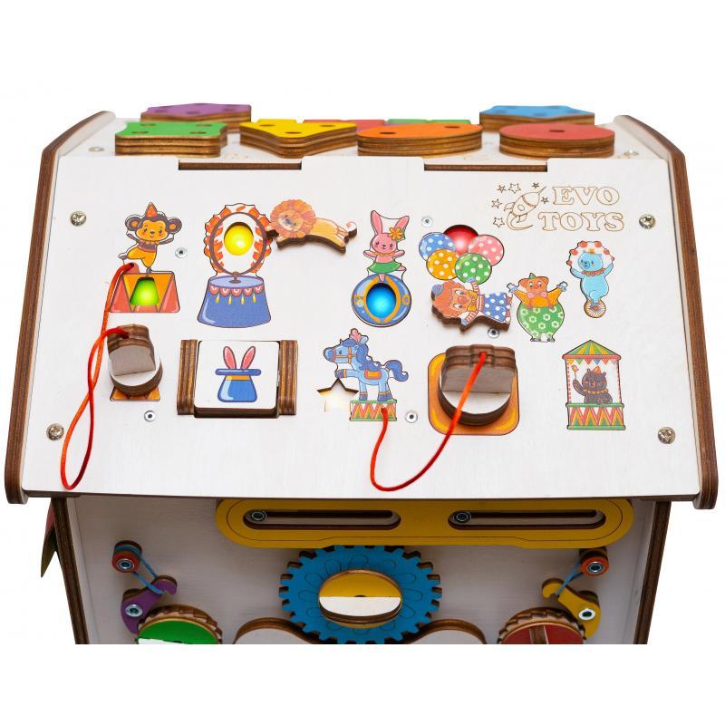 Бизиборд домик Знайка цирк Миди 35X40 со светом фото